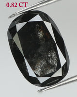 Natural Loose Diamond Oval Black Color I3 Clarity 6.70 MM 0.82 Ct KDK1066