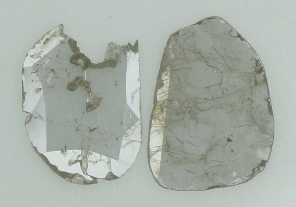 Natural Loose Diamond Slice Ice Grey Color I3 Clarity 2 Pcs 0.83 Ct L7700