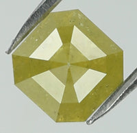 Natural Loose Diamond Emerald Yellow Color I3 Clarity 4.50 MM 0.76 Ct L7718