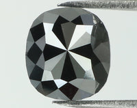 Natural Loose Diamond Cushion Black Color I3 Clarity 6.60 MM 1.17 Ct L7725
