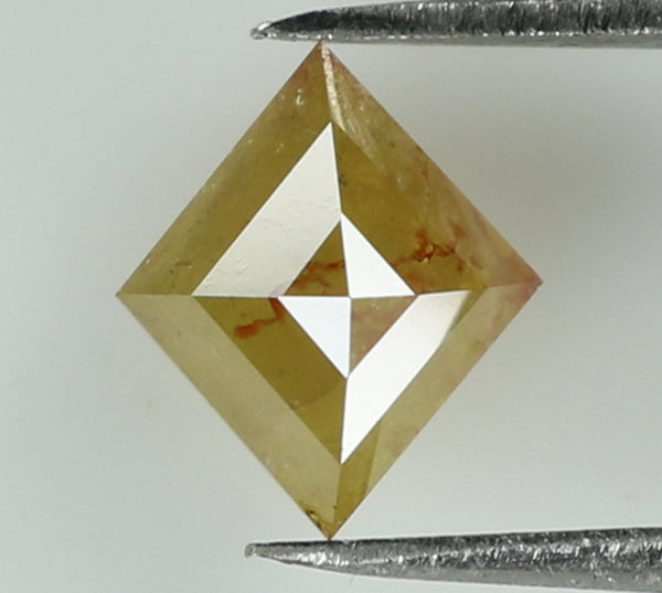 Natural Loose Diamond Kite Yellow Color I3 Clarity 7.20 MM 0.68 Ct KR1888