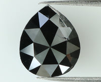 Natural Loose Diamond Pear Black Color I3 Clarity 8.00 MM 1.67 Ct KR1175