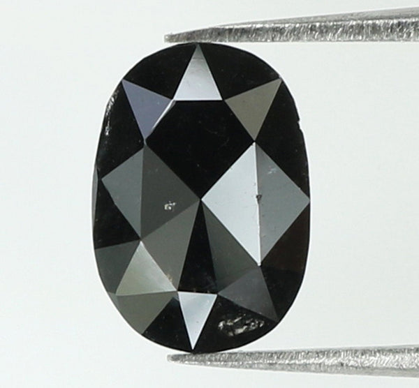 Natural Loose Diamond Oval Black Color I3 Clarity 8.10 MM 1.27 Ct KR1845