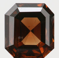 IGI CERTIFIED Natural Loose Diamond Emerald Deep Orangy Brown Color SI2 Clarity 1.10 Ct L7721