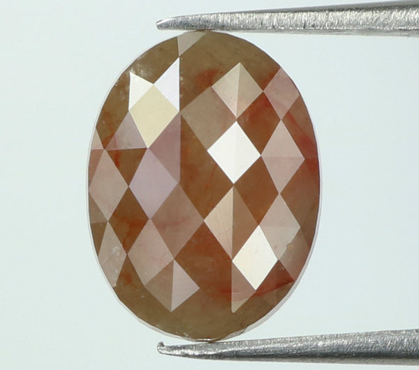 2.27 Ct Natural Loose Diamond Oval Grey Brown Color I3 Clarity 9.60 MM L7876