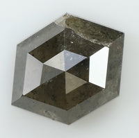 2.12 Ct Natural Loose Diamond Hexagon Greenish Grey Color 9.60 MM L7878