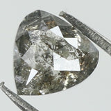 0.50 Ct Natural Loose Diamond Heart Grey Salt And Pepper Color 4.85 MM L7880