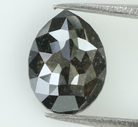 1.11 Ct Natural Loose Diamond Pear Black Grey Salt And Pepper Color I3 Clarity 7.80 MM L7895