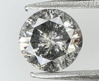0.32 Ct Natural Loose Diamond Round Black Grey Salt And Pepper Color I3 Clarity 4.15 MM L7905
