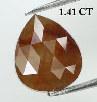 1.41 Ct Natural Loose Diamond Pear Brown Color I3 Clarity 7.50 MM KR1912