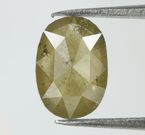 1.08 Ct Natural Loose Diamond Oval Yellow Grey Color I3 Clarity 7.90 MM KR1915