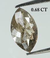 0.68 Ct Natural Loose Diamond Marquise Milky Grey Color I3 Clarity 7.50 MM KR1920