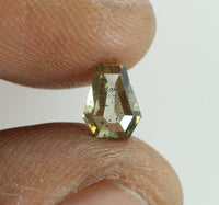 0.72 Ct Natural Loose Diamond Coffin Yellow Green Color I2 Clarity 6.30 MM KDL7847