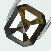 0.78 Ct Natural Loose Diamond Emerald Black Color I3 Clarity 6.00 MM L7974