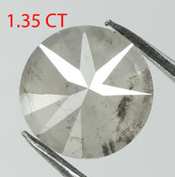 1.35 Ct Natural Loose Diamond Round White Milky Color I3 Clarity 6.80 MM L7869