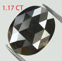 1.17 Ct Natural Loose Diamond Oval Grey Color I3 Clarity 7.70 MM L7871