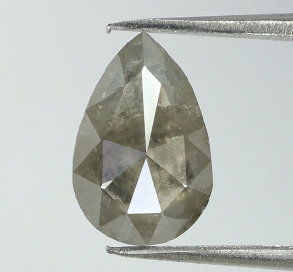 1.03 Ct Natural Loose Diamond Pear Grey Color I3 Clarity 8.80 MM L7975