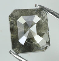 0.78 Ct Natural Loose Diamond Emerald Grey Color 5.30 MM KR1922