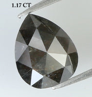 1.17 Ct Natural Loose Diamond Pear Black Grey Color 6.90 MM L7903