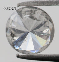 0.32 Ct Natural Loose Diamond Round White Milky Color I3 Clarity 4.50 MM L7914