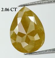 2.06 Ct Natural Loose Diamond Pear Yellow Color I3 Clarity 9.60 MM L7952