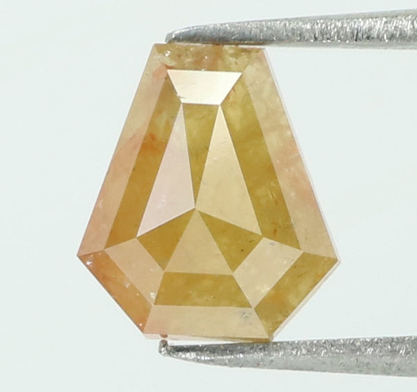 0.81 Ct Natural Loose Diamond Coffin Yellow Color I3 Clarity 7.00 MM L7968