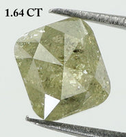 1.64 Ct Natural Loose Diamond Cushion Yellow Color I3 Clarity 6.50 MM KR1939