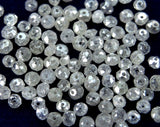 Natural Loose Diamond Round Beads Fancy Ice Gray Color I1 I3 Clarity 1.50 to 3.10 MM 5 Pcs Lot Q51-1