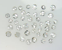 Natural Loose Diamond Round Rose Cut White G H Color VS1 VVS1 Clarty 2.00 to 3.00 MM 5 Pcs Lot Q110
