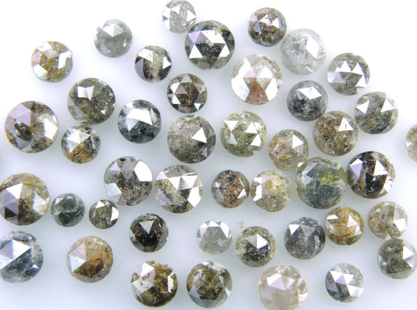Natural Loose Diamond Round Rose Cut Fancy Mix Color Low Price 2.00 to 5.00 MM 1.00 Ct Lot Q71