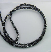 Natural Loose Diamond Black Bead Round I3 Clarity 1.50 To 2.50 MM 14.00 Ct Q67