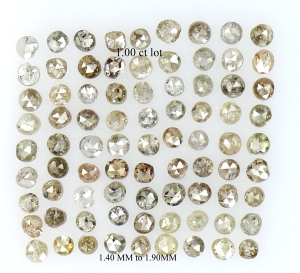 Natural Loose Diamond Round Fancy Brown Mix Color I1 I3 Clarity 1.00 Ct Lot Q54