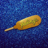 "Corn Dog Feelings 1.25"" Enamel Pin"