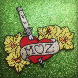 "Morrissey Love Tattoo Style ""Moz"" Iron On Patch"