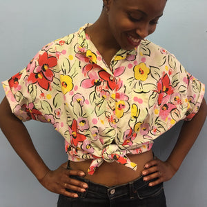 Palmetto's Floral and Dot Shirt