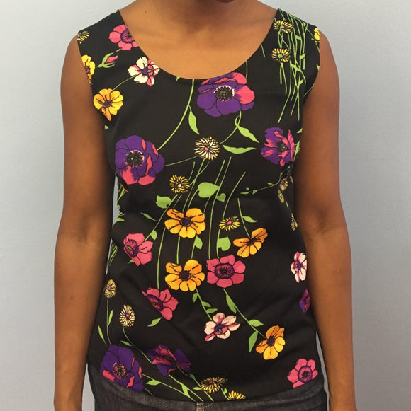Psychedelic Floral Tank Top