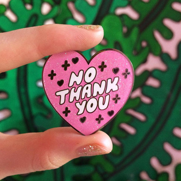 No Thank You pin by Stella Rose x Sabretooth Dream