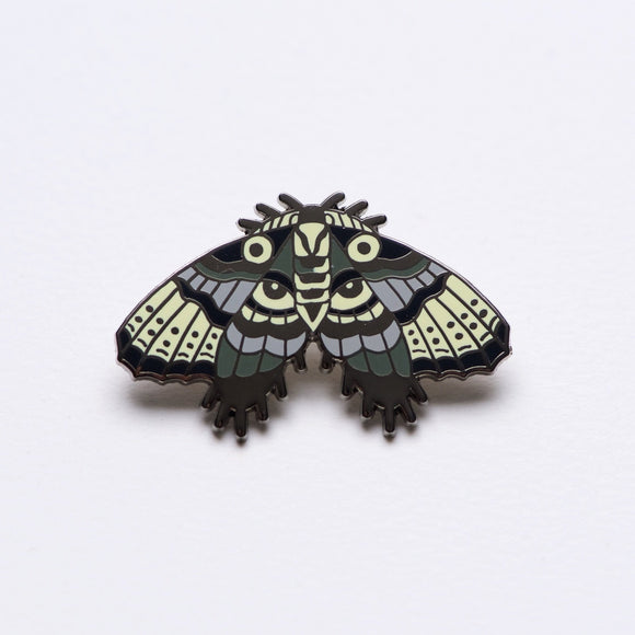 XL Goth Moth Statement Pin