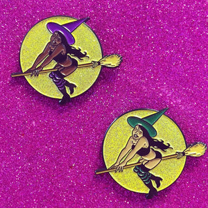 "Feeling Witchy 1.5"" Enamel Pin - 2 colors!"
