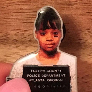 "Lisa ""Left Eye"" Mug Shot Enamel Pin"