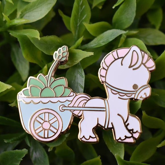 Pony Planter Enamel Pin