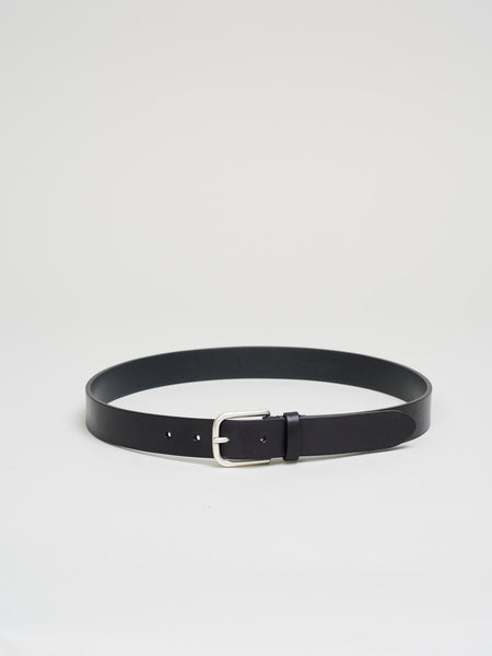 Leather Belt, Black - Goods