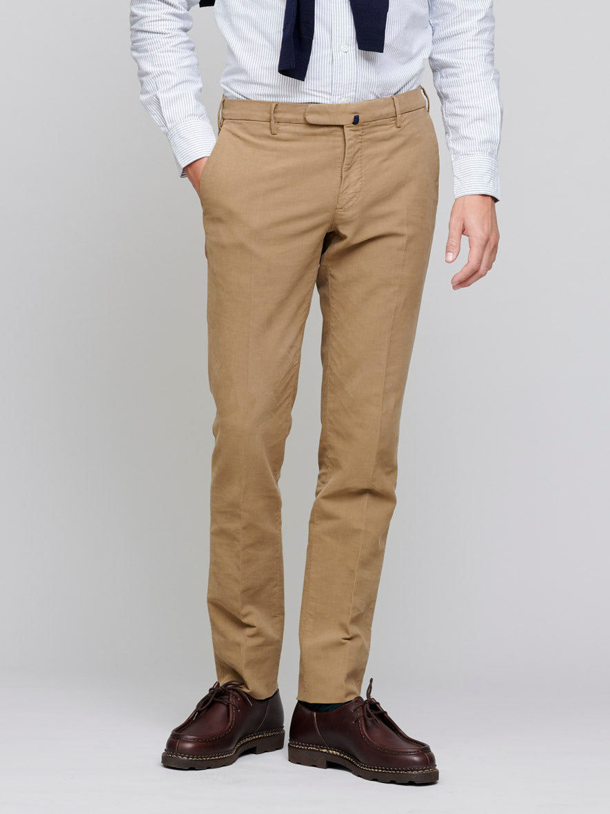 Slim Chino Soft Brushed Cotton, Khaki