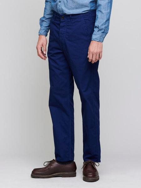 French Worker Pants, Deep Blue - Goods