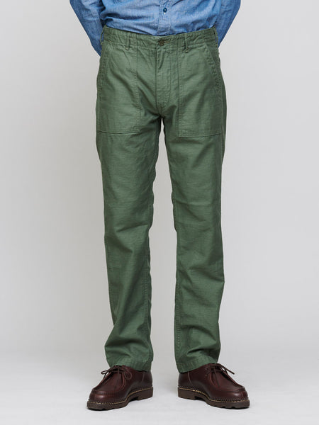 Army Fatigue Pants Slim, Green - Goods