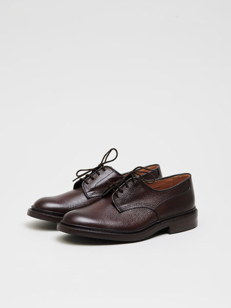 Woodstock Derby Leather Shoes, Espresso