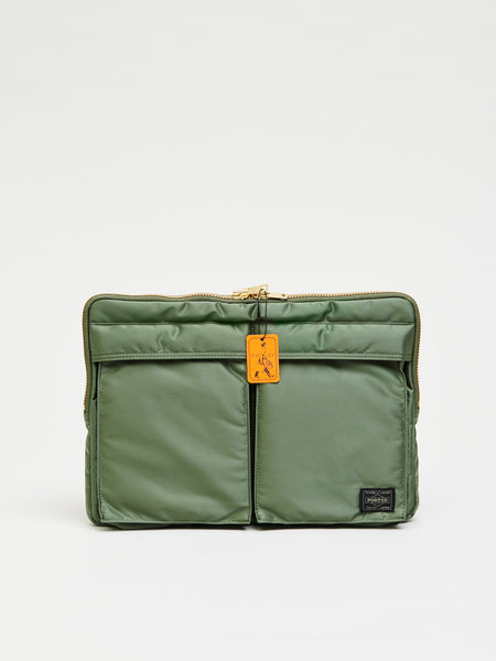 Tanker Document Case, Sage Green