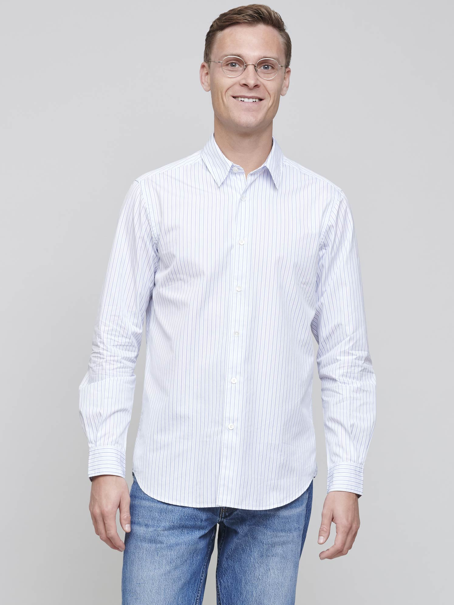 Standard Shirt 2.0 Poplin, Two Stripe