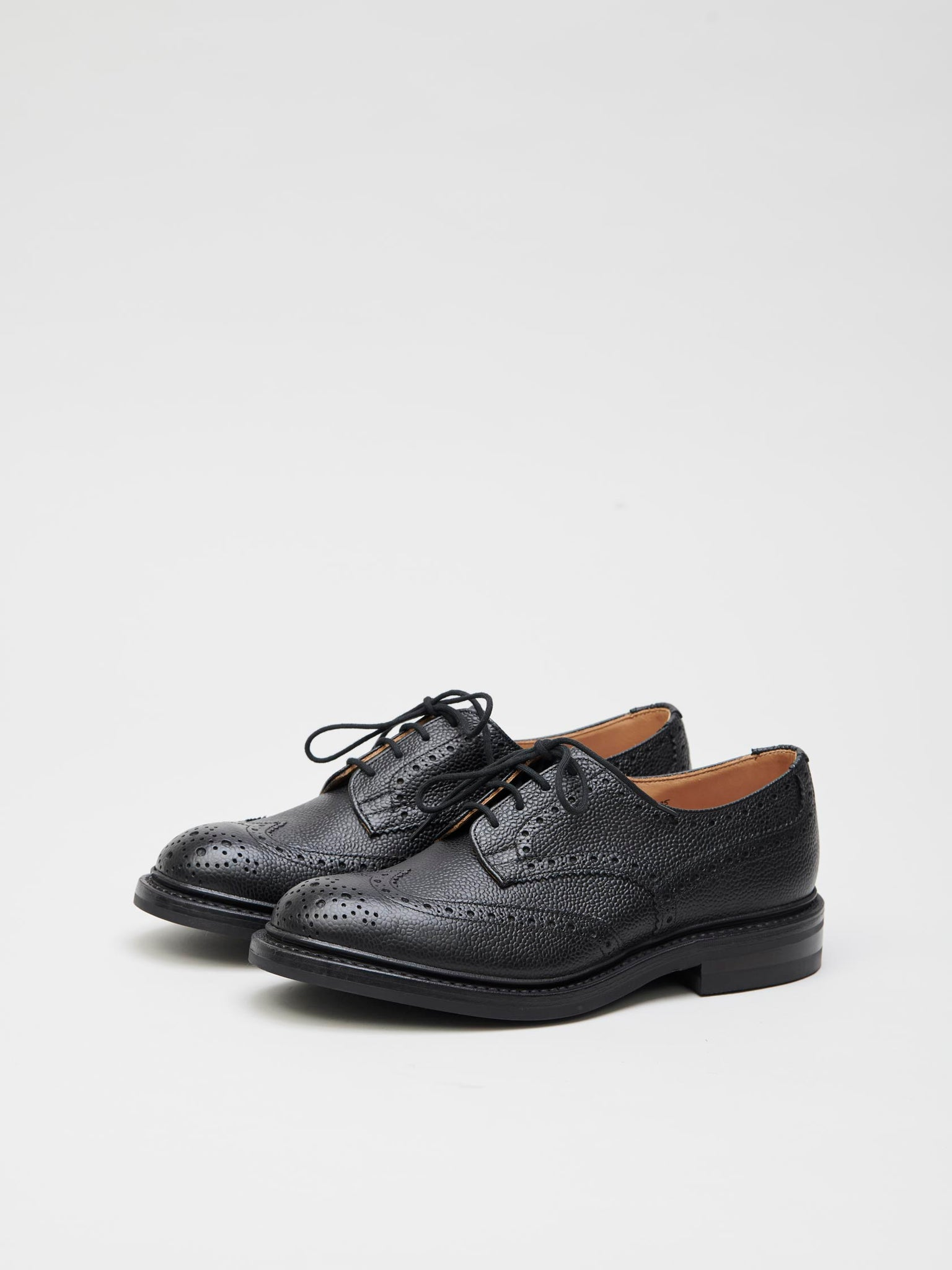 Woodstock Derby Leather Brogues, Black