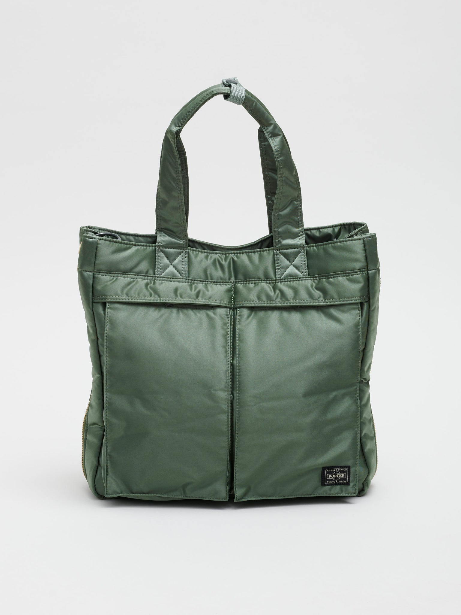 2Way Tanker Tote Bag, Sage Green